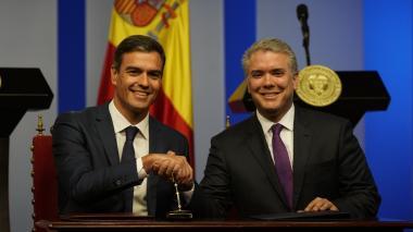 Duque y Sánchez buscarán resolver litigio por Galeón San José