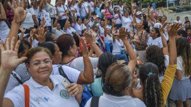 En video   Madres comunitarias protestan nuevamente para pedir que se les reconozca pensión