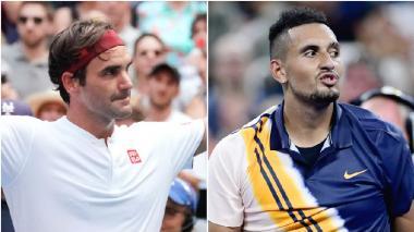 El rey Federer contra el indómito Kyrgios, la noche y el día en el US Open