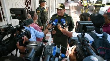 Comandante de la Policía, general Mariano Botero Coy.
