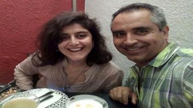 Folleto que muestra a la pareja chilena Jorge Tovar y Rosario Madueño, quienes fueron liberados de la cárcel el 8 de septiembre de 2018 en Perú.
