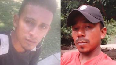 Ferney Enrique Donado Ramos y Jeison Figueroa Jiménez, víctimas fatales.