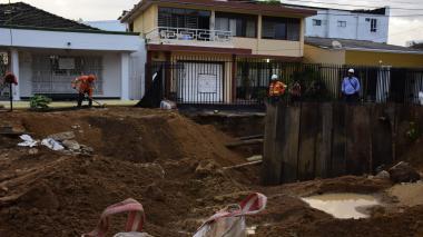 Arroyo de la calle 75 socavó dos viviendas en la carrera 44
