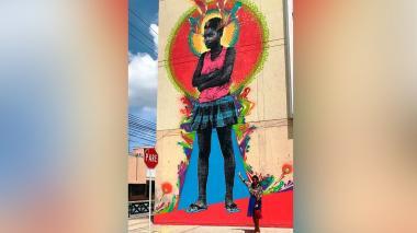Mural en homenaje a migrantes causa sensación en Santa Marta