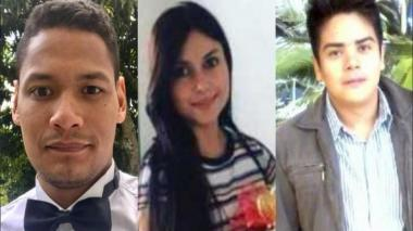 Los tres geólogos asesinados en Antioquia.