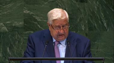 Walid Muallem, jefe de la diplomacia siria.