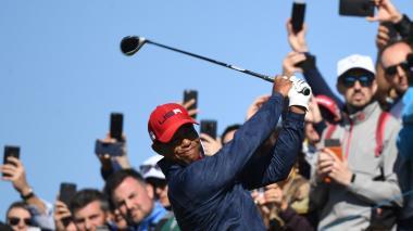 El golfista estadounidense Tiger Woods durante una jornada en la Copa Ryder que se celebró en Francia.