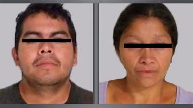 La pareja capturada por las autoridades mexicanas.