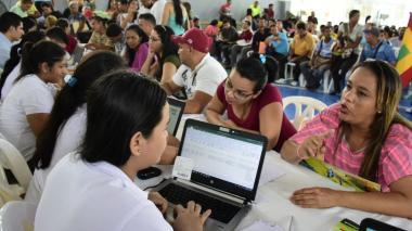 Venezolanos y retornados acuden a Feria de Empleo en Combarranquilla, de Soledad