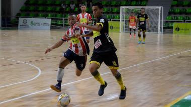 José Gutiérrez Maturana en el juego ante Itagüí.