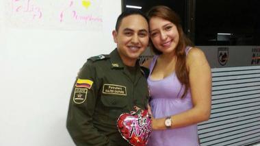 Walter Chaparro y su esposa Diana Sandoval.