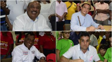 Cuatro candidatos que aspiran llegar a la alcaldía de Riohacha