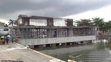 En video | Alcalde Char inspecciona avance de la construcción del puente de Barlovento