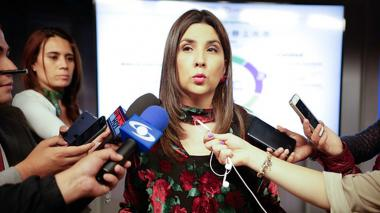 La ministra de educación María Victoria Ángulo.