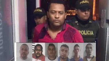 Jair Donado, presunto cabecilla de Los Papalópez, y los miembros de su banda.