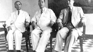 Juan B. Fernández Ortega, Alberto Pumarejo y Luis Eduardo Manotas, fundadores de EL HERALDO.