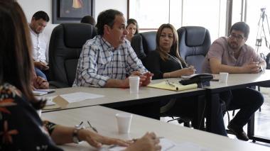 El secretario del Interior, Guillermo Polo, y el secretario de Gobierno del Distrito, Clemente Fajardo.