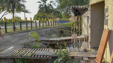 Esta vivienda está ubicada a un costado de la Planta de Tratamiento de Aguas Residuales.