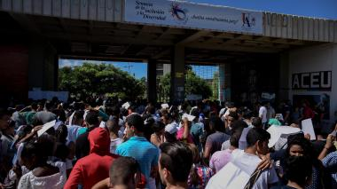 La 'lucha' por obtener un cupo en la Universidad del Atlántico