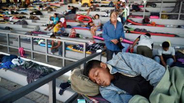 Unos 5.500 migrantes llegan a albergue en México DF