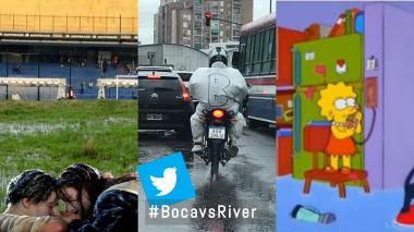 Así reaccionaron las redes tras lluvia que obligó a suspender Boca vs River