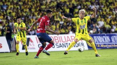 Atlético Bucarmanga y Medellín se enfrentaron en la vuelta de los cuartos de final de la Liga Águila II de 2018.