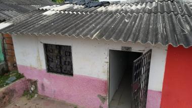 Vivienda ubicada en el barrio Santo Domingo, donde se registraron los hechos.