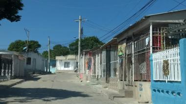 Sector del barrio Carrizal, donde se registró el hecho.