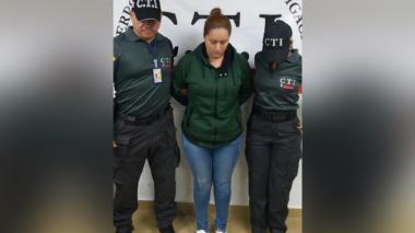 Ginna Margarita Ricardo Cantillo, al momento de su captura en agosto de 2017.