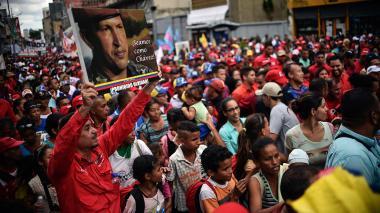 Con marchas, oficialismo conmemoró 20 años de la elección de Hugo Chávez