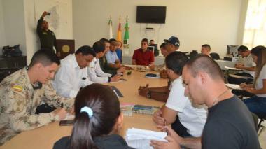 Consejo de seguridad de este domingo en Riohacha.