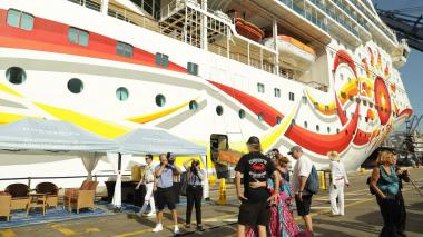 Crucero con 1.845 turistas arribó Santa Marta