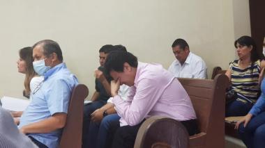 Con manos en la cabeza y lágrimas se vio a Vargas Lamadrid durante las audiencias judiciales.
