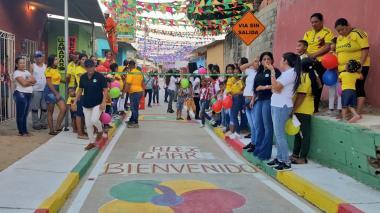 Habitantes de los barrios Lipaya y Sourdis estrenaron otros 400 metros de vías
