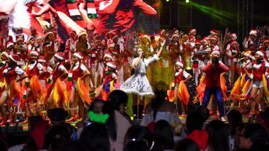 La Banda de Baranoa presentó un musical de Navidad, que tuvo una duración de una hora y 15 minutos.