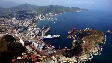 Instalaciones del Puerto de Santa Marta.