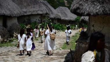 Algunos indígenas de la Sierra Nevada, Santa Marta.
