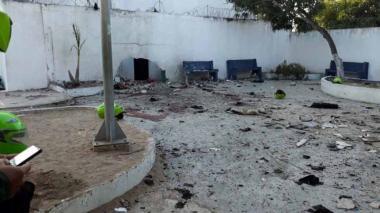 Atentado en la Estación de Policía del barrio San José de Barranquilla.