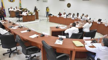 Aspecto de la sesión en el Concejo de Barranquilla.