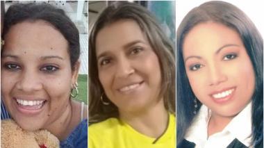 Kelly Beltrán Preciado, Brenda Pájaro Bruno y Sandra Quintero Yepes