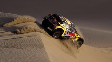 El francés Sébastien Loeb durante la jornada de este martes en el Rally Dakar.