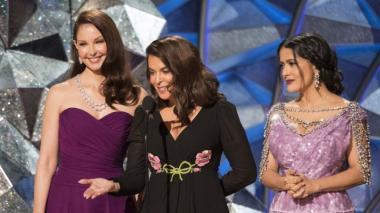 Ashley Judd,  Anabella  Sciorra y Salma Hayek, víctimas del productor Harvey Weinstein y precursoras del Me Too y Time's Up, en el discurso de la 90 edición de los Óscar.