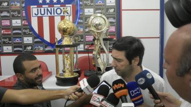 Antonio Char,en la sede de Junior.