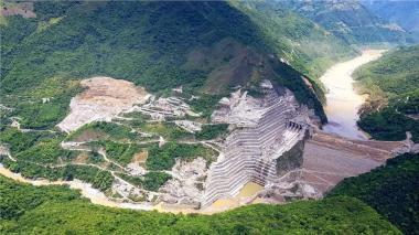 Construcción del proyecto de Hidroituango.