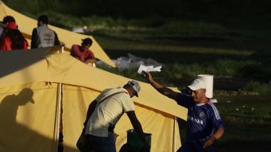 Levantan campamento humanitario de venezolanos en Bogotá