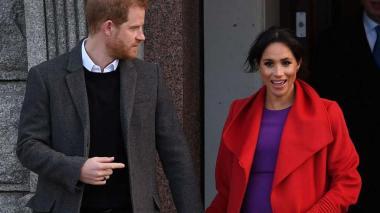 Enrique de Inglaterra y la duquesa de Sussex, Meghan Markle, quienes esperan su primer hijo.