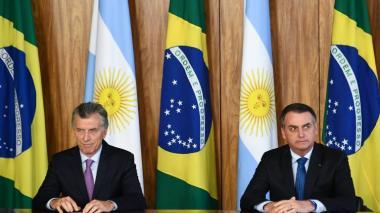 Mauricio Macri y Jair Bolsonaro, presidentes de Argentina y Brasil.