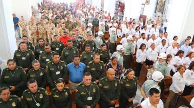 En Santa Marta, eucaristía en memoria de víctimas del atentado en la Escuela General Santander