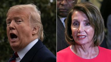 "Trump acusó a líder demócrata de ""irracional"" por oponerse al muro"
