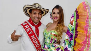 Los reyes del Carnaval de la 44, Pedro Tapias y Kelly Restrepo.